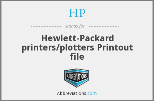 HP - Hewlett-Packard printers/plotters Printout file