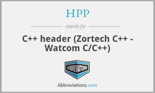 HPP - C++ header (Zortech C++ - Watcom C/C++)