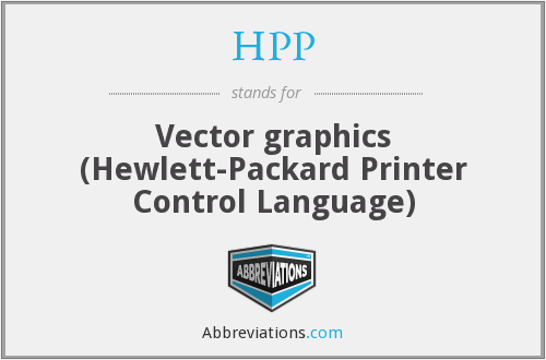 HPP - Vector graphics (Hewlett-Packard Printer Control Language)