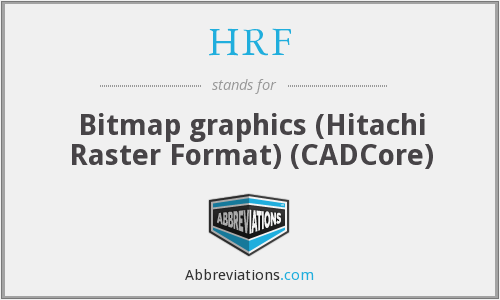 HRF - Bitmap graphics (Hitachi Raster Format) (CADCore)