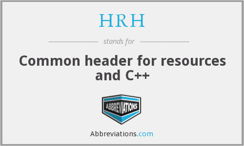 HRH - Common header for resources and C++