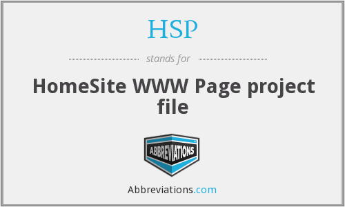 HSP - HomeSite WWW Page project file
