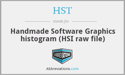 HST - Handmade Software Graphics histogram (HSI raw file)