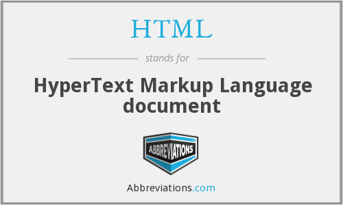 HTML - HyperText Markup Language document