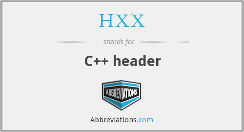 What does HXX stand for?