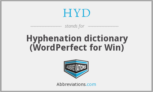 HYD - Hyphenation dictionary (WordPerfect for Win)
