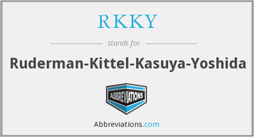 RKKY - Ruderman-Kittel-Kasuya-Yoshida