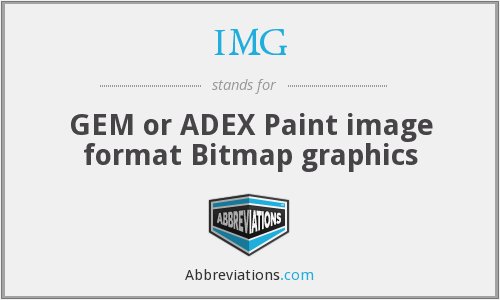 IMG - GEM or ADEX Paint image format Bitmap graphics