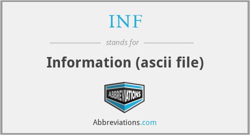 INF - Information (ascii file)