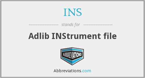INS - Adlib INStrument file