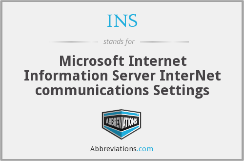 INS - Microsoft Internet Information Server InterNet communications Settings
