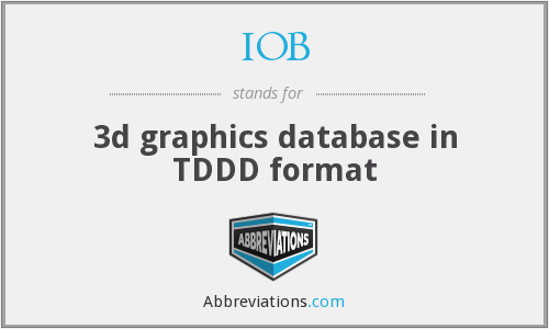 IOB - 3d graphics database in TDDD format