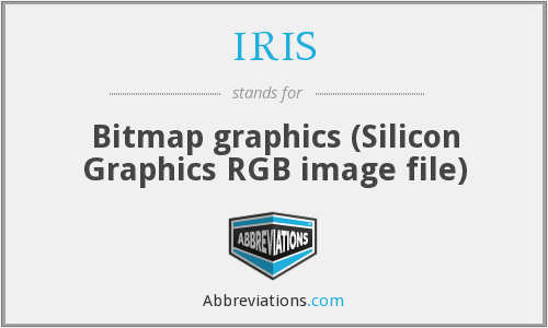 IRIS - Bitmap graphics (Silicon Graphics RGB image file)