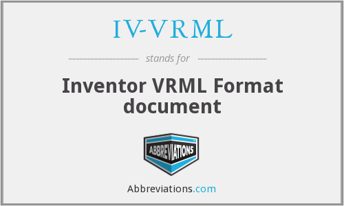What does IV-VRML stand for?