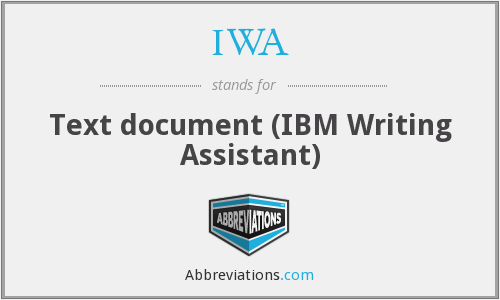 IWA - Text document (IBM Writing Assistant)