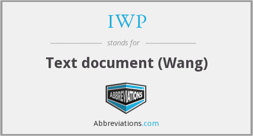 IWP - Text document (Wang)