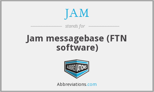 JAM - Jam messagebase (FTN software)