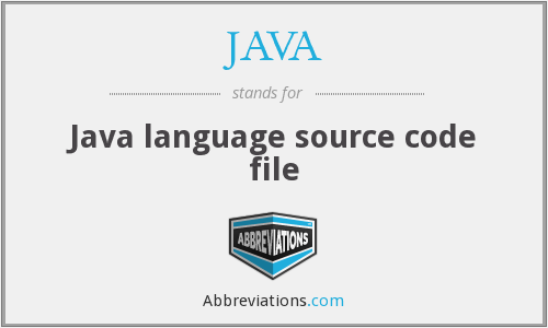 JAVA - Java language source code file
