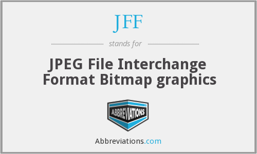 JFF - JPEG File Interchange Format Bitmap graphics