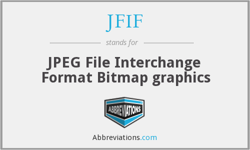 JFIF - JPEG File Interchange Format Bitmap graphics