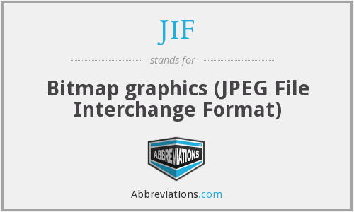 JIF - Bitmap graphics (JPEG File Interchange Format)