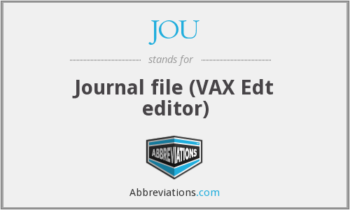 JOU - Journal file (VAX Edt editor)