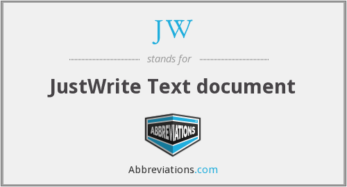 JW - JustWrite Text document