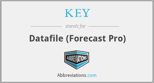 KEY - Datafile (Forecast Pro)