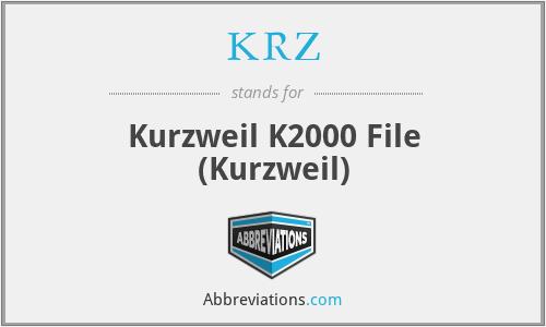 KRZ - Kurzweil K2000 File (Kurzweil)