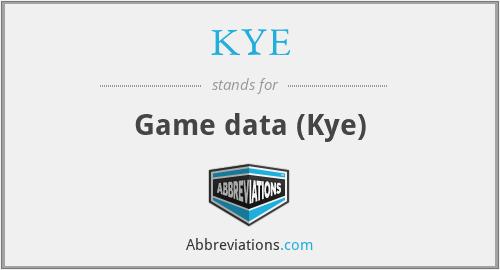 KYE - Game data (Kye)