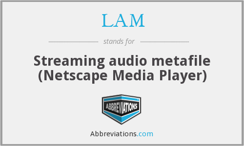 LAM - Streaming audio metafile (Netscape Media Player)