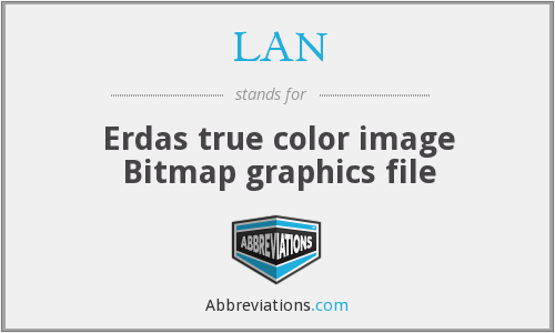 LAN - Erdas true color image Bitmap graphics file