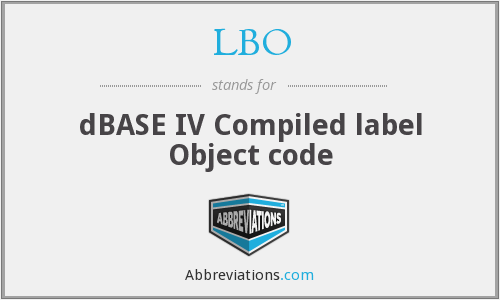 LBO - dBASE IV Compiled label Object code