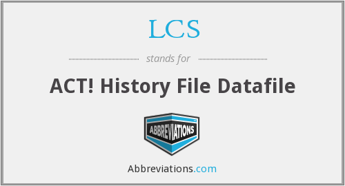 LCS - ACT! History File Datafile