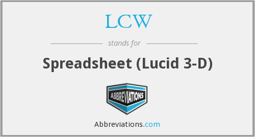 LCW - Spreadsheet (Lucid 3-D)