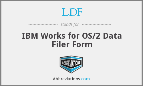 LDF - IBM Works for OS/2 Data Filer Form