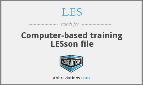 LES - Computer-based training LESson file