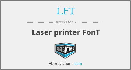 LFT - Laser printer FonT
