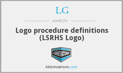 LG - Logo procedure definitions (LSRHS Logo)