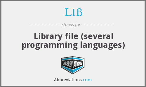 LIB - Library file (several programming languages)