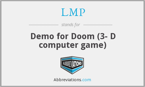 LMP - Demo for Doom (3- D computer game)