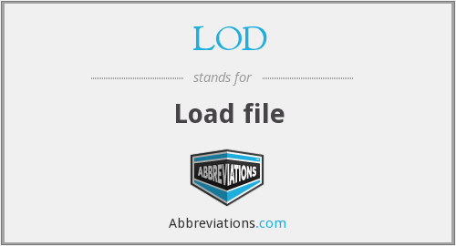 LOD - Load file
