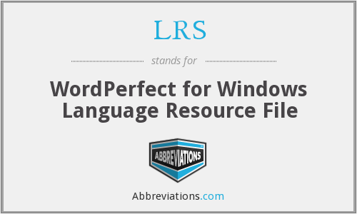 LRS - WordPerfect for Windows Language Resource File