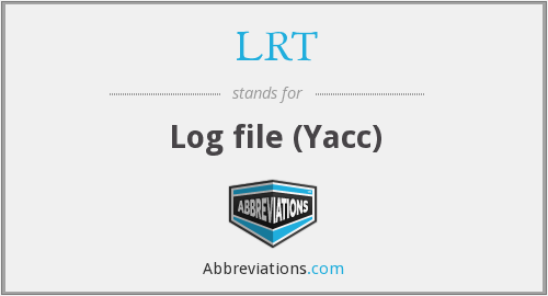 LRT - Log file (Yacc)