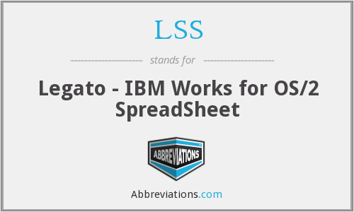 LSS - Legato - IBM Works for OS/2 SpreadSheet