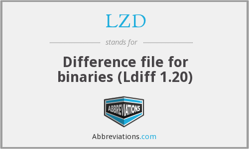 LZD - Difference file for binaries (Ldiff 1.20)