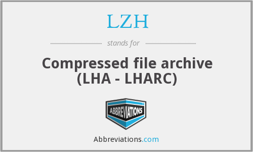 What does LZH stand for?