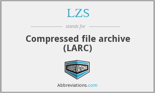 LZS - Compressed file archive (LARC)