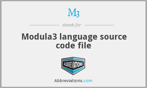 M3 - Modula3 language source code file