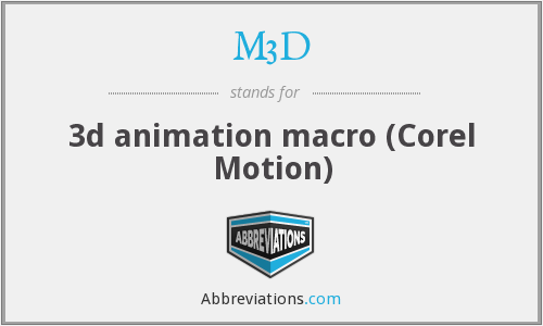 M3D - 3d animation macro (Corel Motion)